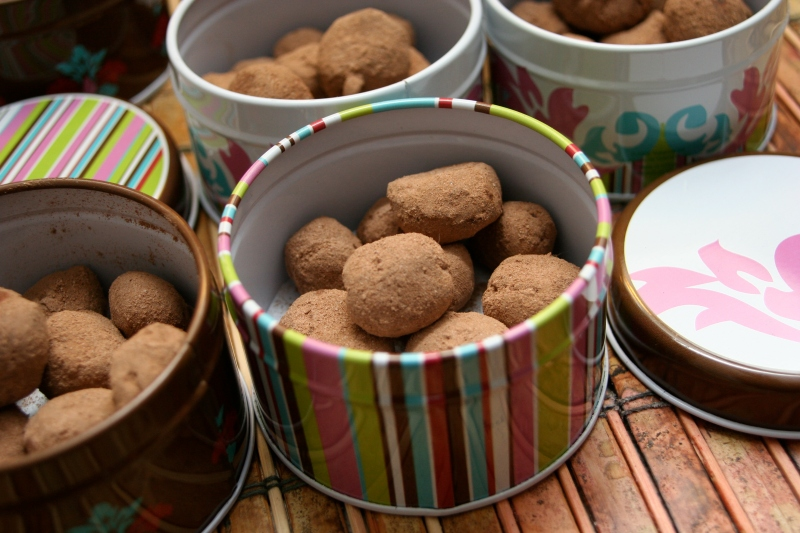 mocha truffles for your valentine