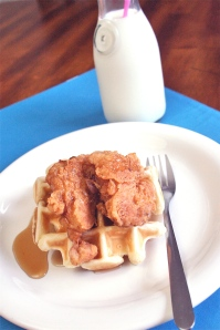 chicken dinner recipe - chicken and waffles 2
