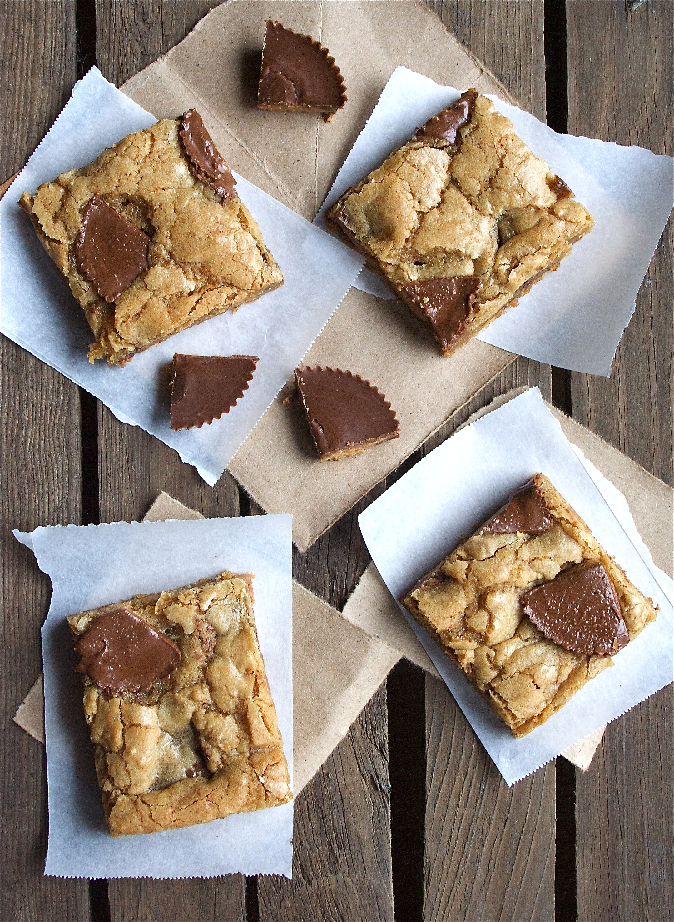 peanut butter cup blondie dessert recipe