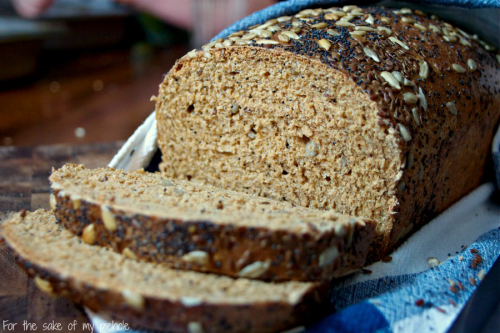soft and rich whole wheat seed bread